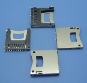 JX SD PUSH 自弹 2.8-4.8H 垫高1.5/1.8/2.0MM10P SMT带锁卡卡座