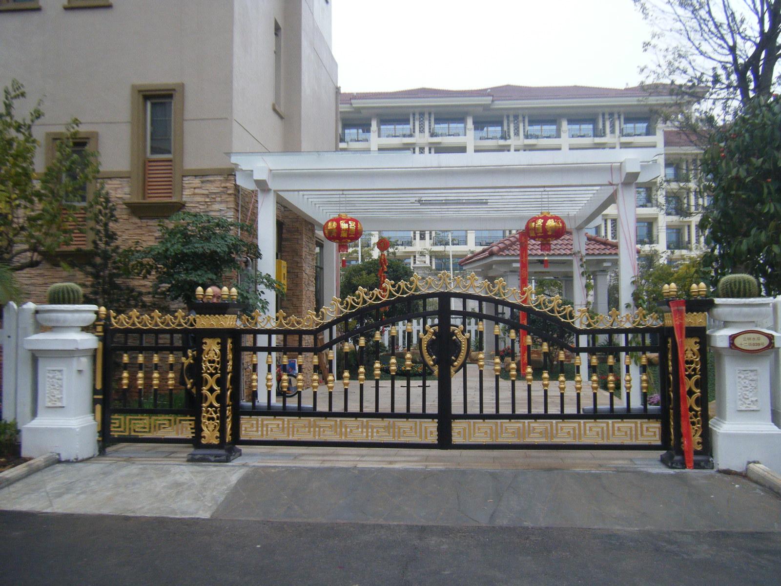 农村欧式别墅围墙大门