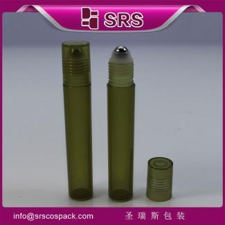 支持小批量供应 15ml塑料滚珠瓶 驱蚊露 祛痘 眼霜精华液走珠瓶