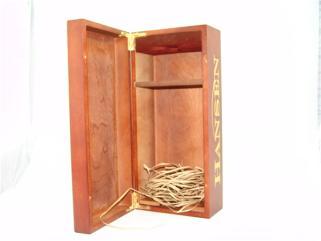 柏年双支木盒包装
