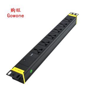 购旺(Gowone)6位2米工业防雷滤波PDU机柜插座插排插线板接线板G6