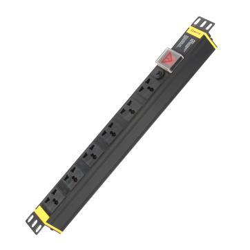 购旺(Gowone)6位2米过载保护PDU机柜插座插排插线板接线板W1