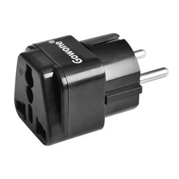 Gowone 购旺 工程级电源标准转换插头便携插座 服务器PDU电源转换器 机房电工配件 欧标转10