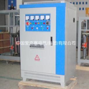 吹瓶机专用三相SBW-100KVA补偿式大功率稳压器进口设备安全