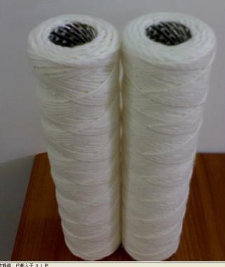 外贸出口线绕脱脂棉5微米带不锈钢骨架滤芯