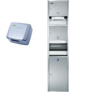 304加厚不锈钢干手柜 三合一纸巾箱 厕纸架