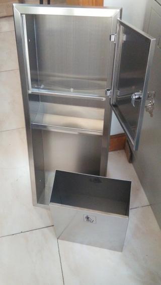 组合式手纸箱 不锈钢抽纸架 不锈钢柜门 80厘米高
