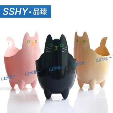 台州外贸时尚家用垃圾桶pp动物圆形塑料垃圾桶创意