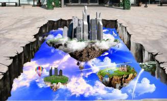 3D地画一流创意设计 3D画专业设计