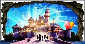 魔幻城堡3D画 个性定制3D设计