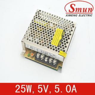 5V 5A单组输出开关电源 25w LED开关电源