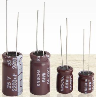 KNSCHA SHW有机金属铝电解电容器 超低阻抗 超小体积 替代固态电解电容器