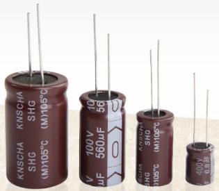 KNSCHA SHW有机金属铝电解电容器 1000UF/6.3V 6.3*11 超小体积 网通产品用