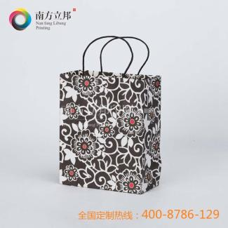 2015年 温州 厂家专业直销 黑白花纹手提袋小号 纸袋