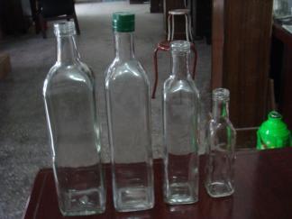 厂家供应多种容量玻璃瓶500毫升橄榄油瓶