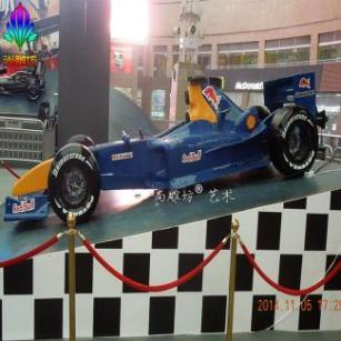 F1红牛赛车模型雕塑树脂工艺摆件玻璃钢雕塑