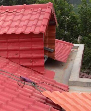 衡阳常宁仿琉璃瓦|钢结构屋面瓦|平改坡工程瓦