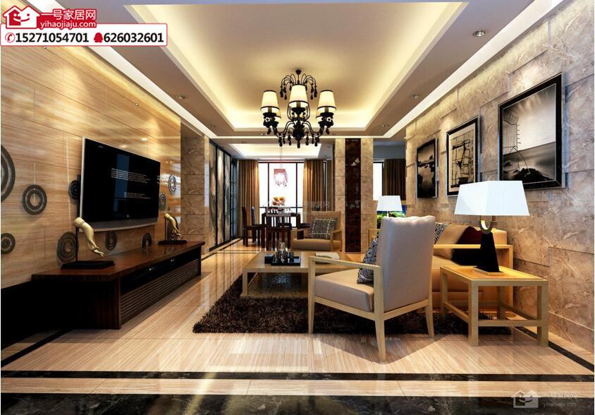 东津世纪城136平米古典奢华设计体现现代元素