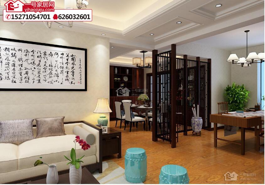 襄阳新中式风格小户型装修看看东津世纪城案例