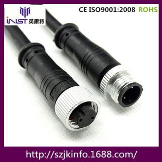 英思特厂家供应 水族器材 M12防水连接器 M12公母防水插头