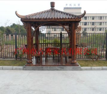 中式景观四角凉亭图片