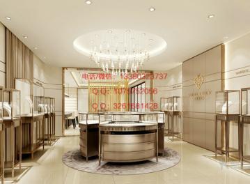 金大福珠宝展示柜,商场珠宝展柜设计