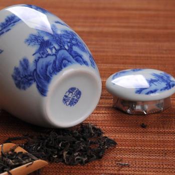膏方陶瓷罐 青花瓷陶瓷膏方罐