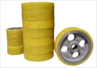 供应武汉滚轮、车轮耐磨聚氨酯橡胶包胶,驱动轮包胶
