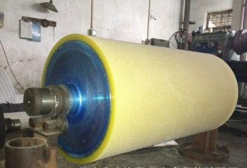 供应湖北武汉输送用胶辊滚筒耐磨聚氨酯橡胶包胶加工