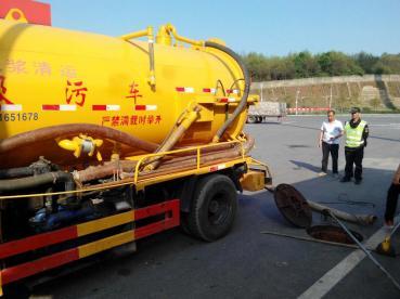 高速公路加油站、生活区、服务区高压清疏 化粪池清理联合作业