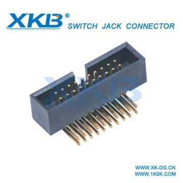 连接器1.27mm简牛 塑高4.9 180度 带定位柱