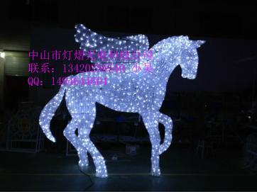 厂家直销LED立体动物造型灯 滴胶圣诞飞马造型灯