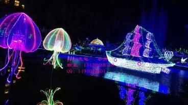 公园公园亮化灯 艺术航船造型灯 节日装饰彩灯