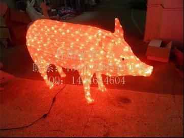 供应滴胶动物灯 发光猪造型灯 圣诞灯 节日装饰灯