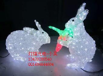 供应滴胶动物造型灯 滴胶小白兔造型灯