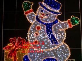 供应圣诞灯 节日装饰彩灯 雪人造型灯