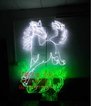 供应1.6米平面艺术马造型灯 艺术灯 图案灯