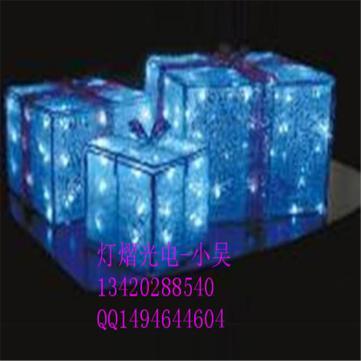 厂家直销LED礼物盒 滴胶礼物盒 圣诞装饰礼物盒