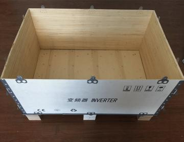 无锡澎湃厂家 定做加工出口免熏蒸蝴蝶卡扣木箱 折叠快装木包装箱
