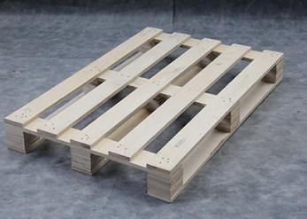 无锡澎湃厂家 专业加工花旗松仓库周转木托盘 实木单面双向进叉木栈板