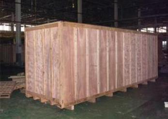 无锡澎湃厂家 熏蒸出口实木钢管包装箱 防水真空包装钢材木箱