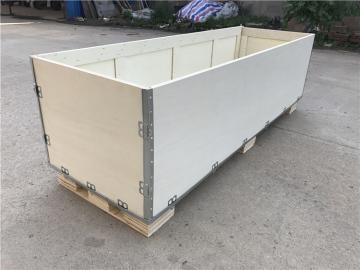 无锡澎湃厂家 定做出口大型钢带包装箱 免熏蒸胶合板木箱