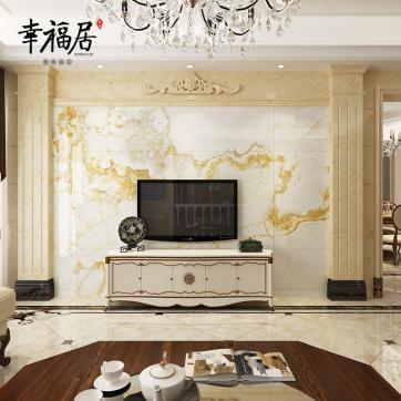 瓷砖电视背景墙客厅装饰定制生产