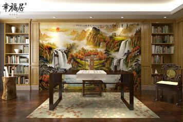 电视背景墙瓷砖定制客厅影视墙-幸福居