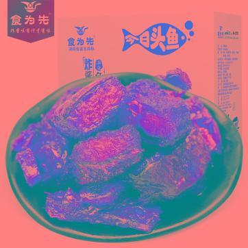 食为先洞庭湖香辣鱼排湖南特产野生鱼排休闲零食小吃鱼块辣味鱼干