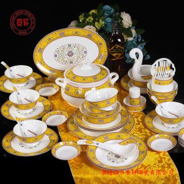 供应景德镇餐具套装 商务礼品骨瓷餐具