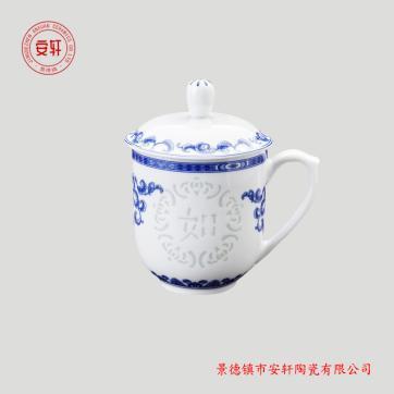 青花玲珑陶瓷茶杯厂家