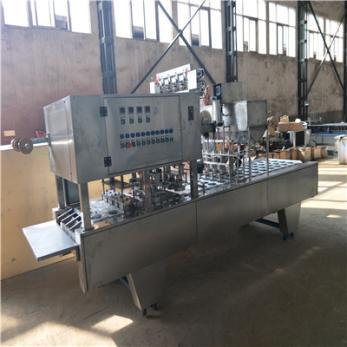 吕工机械全自动4口碗装凉糕灌装封口机厂家