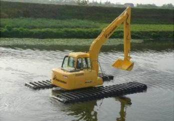 江门挖掘机出租高品质水路两用挖掘机