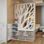阜阳专业木工隔断教您用鞋柜当隔断,不但实用,而且美观!